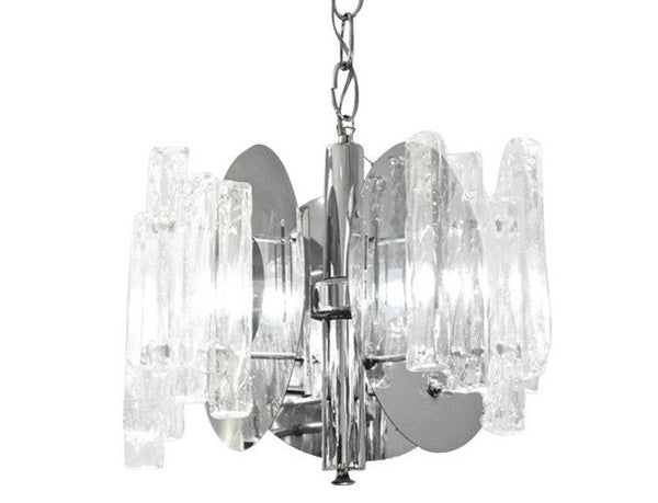 Salviati Italian Nickel Crystal Glass Pendant