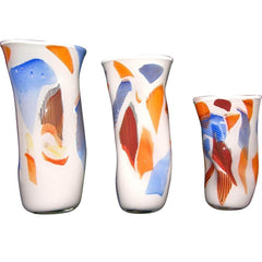 Set-White-Orange-White-Blue-Red-Murano-Glass-Vases