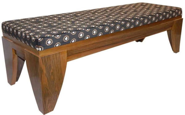 Smania Vintage Brown White Walnut Bench