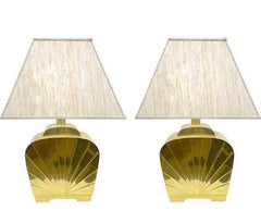 Hollywood-Regency-Brass-Lamps