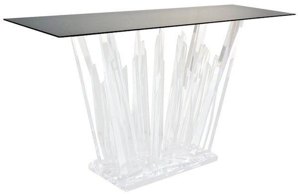 acrylic-organic-rock-console-table-modern-design-smoked-black-glass-top