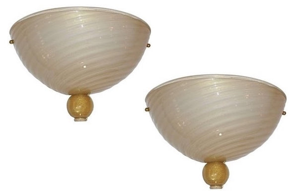 anfora-1970s-italian-art-deco-design-pair-of-ivory-gold-murano-glass-wall-lights