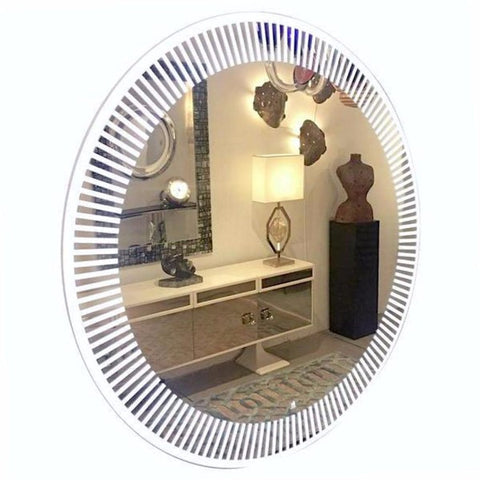 Contemporary Round Lit Mirror