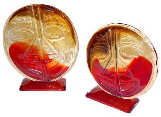 cesare-toso-1970s-pair-of-abstract-art-red-and-amber-murano-glass-round-faces