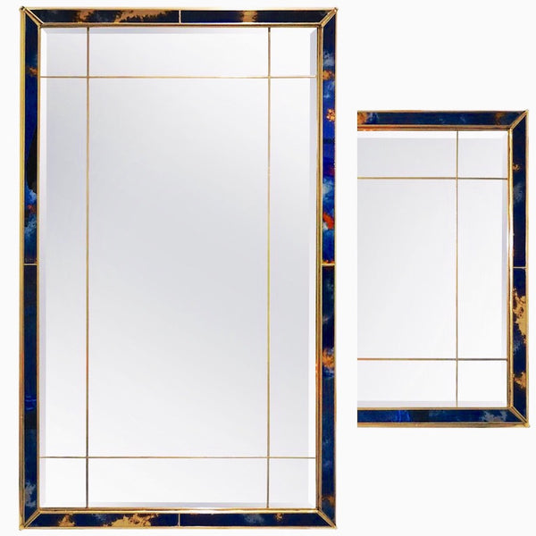 horizontal-vertical-Italian-blue-gold-brass-mirror