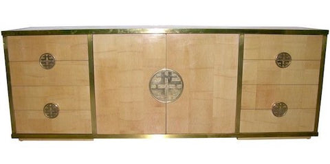 Sinopoli Brass and Bamboo Credenza