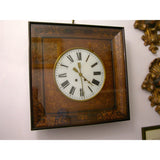 1830s French Charles X Inlaid Wall Clock