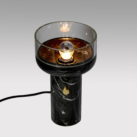 E. Elizarova for Matlight Studio Italian Black Marble and Glass Cup Table Lamp
