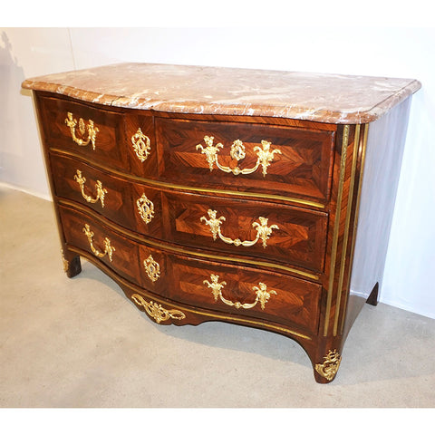 Maitre Marchand French Louis XV Ormolu Kingwood Chest / Commode with Provenance