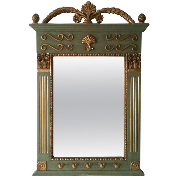 1970s French Decorative Gilt Mirror