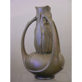Exceptional Art Nouveau Iridescent Vase by Catteau