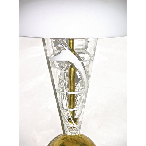 1970s Italian Custom-Made Murano Glass Lamp Attributed to Vistosi