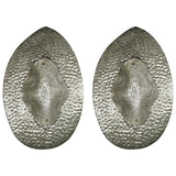 1990s Modern Italian Pair of Silver Finish Textured Murano Glass Concave Sconces