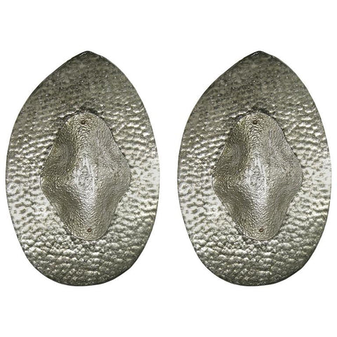 1990s Modern Italian Pair of Silver Finish Textured Murano Glass Concave Sconces - Cosulich Interiors & Antiques
