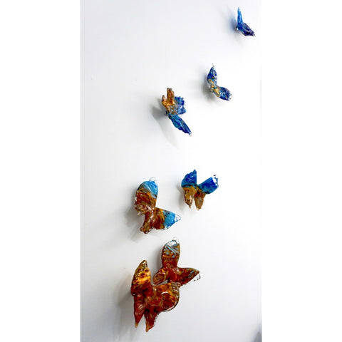 Release - Flight of Butterflies Contemporary Blown Glass Modern Art Sculpture
