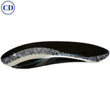Contemporary Italian Black and White Murano Art Glass Mosaic Curve Centerpiece