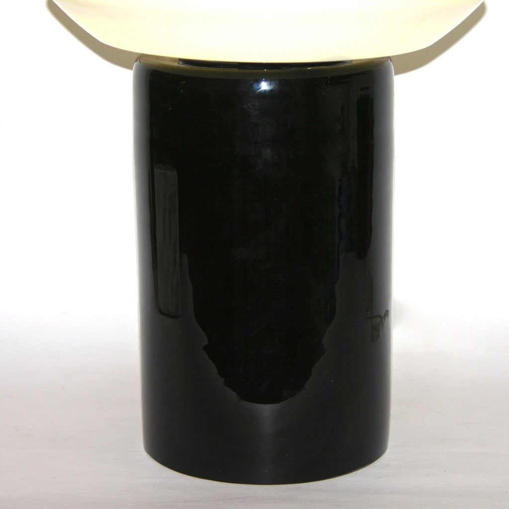 1980s Italian Black and White Murano Glass Table or Floor Lamps - Cosulich Interiors & Antiques