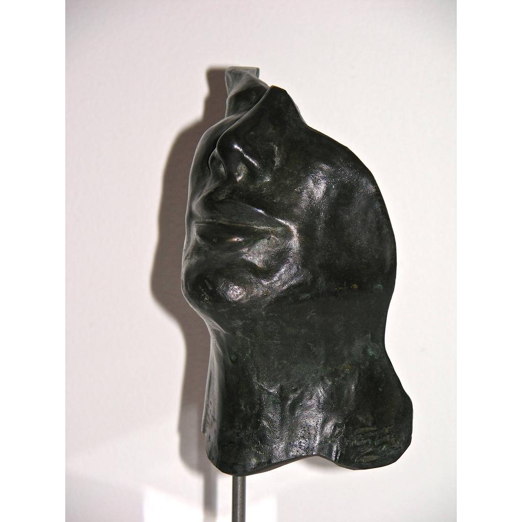 Hollow Face Italian Bronze Sculpture by Ginestroni - Cosulich Interiors & Antiques