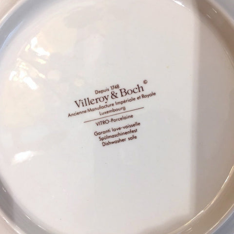 Villeroy & Boch Set for 12 Orange Pink & Blue Black Platters and Dessert Plates