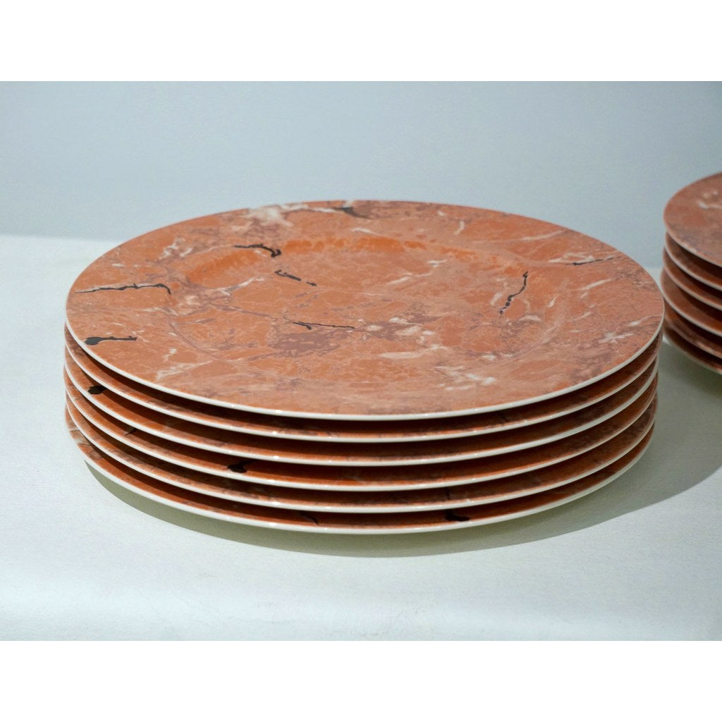 Villeroy & Boch Set for 12 Orange Pink Platters and Dessert Plates