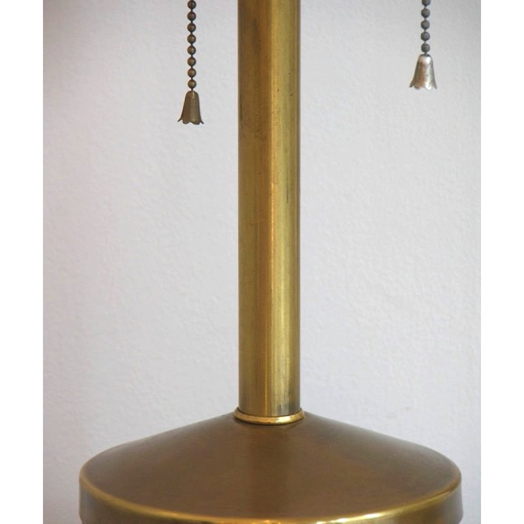 1950s Very Attractive Vintage Pair of Copper and Brass Lamps