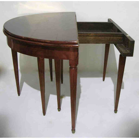 Italian Foldable Half Moon Table