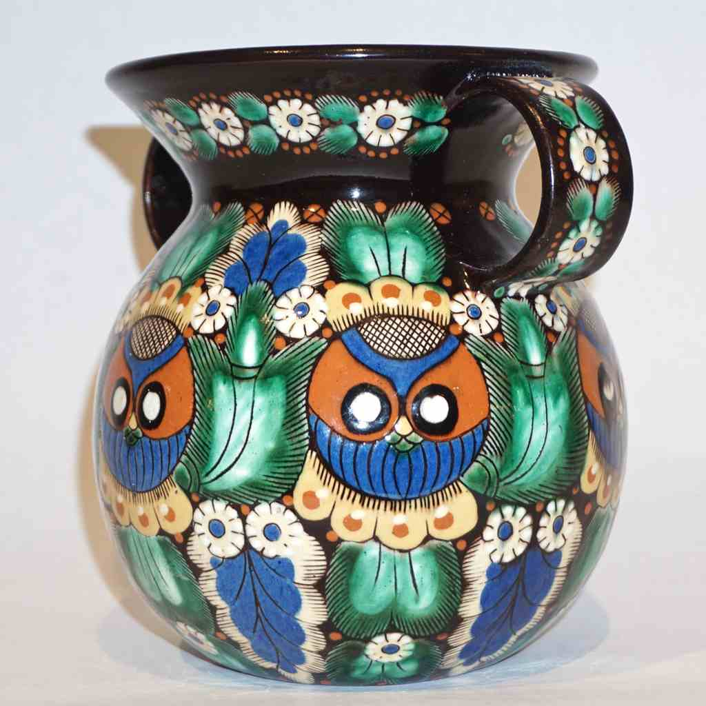 Antique Swiss Arts & Crafts Thoune Majolica Set of Vase, Jug, Plate and Holder