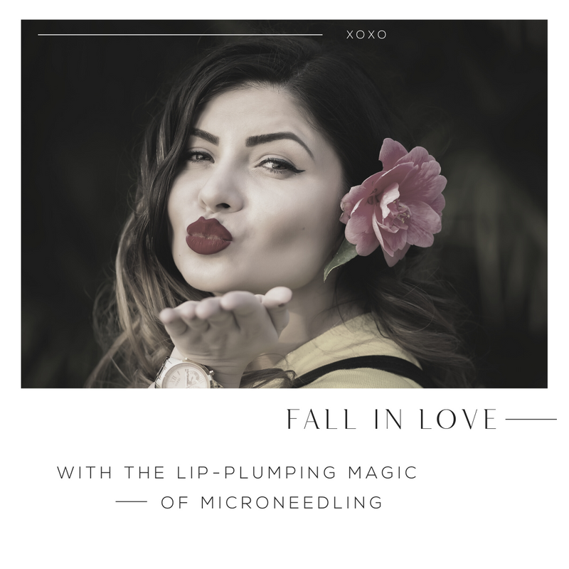 Fall In Love With The Lip-Plumping Magic - 1080x1080 B&W