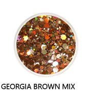 Georgia Brown Chunky Mix Loose Glitter