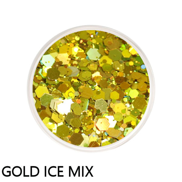 Gold Ice Chunky Mix Loose Glitter