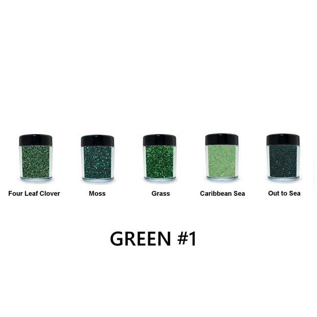 Green Loose Glitter Set #1