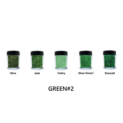 Green Loose Glitter Set #2