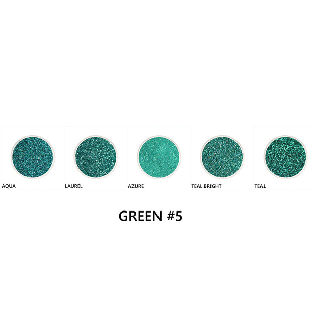 Green Loose Glitter Set #5