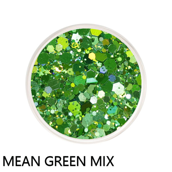 Mean Green Chunky Mix Loose Glitter