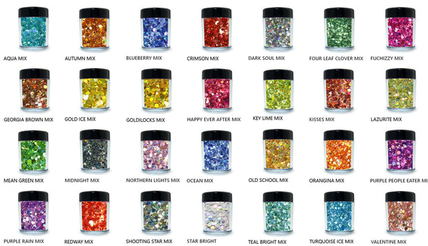 28 Holographic Chunky Mix Loose Glitters