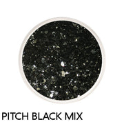 Pitch Black Chunky Mix Loose Glitter