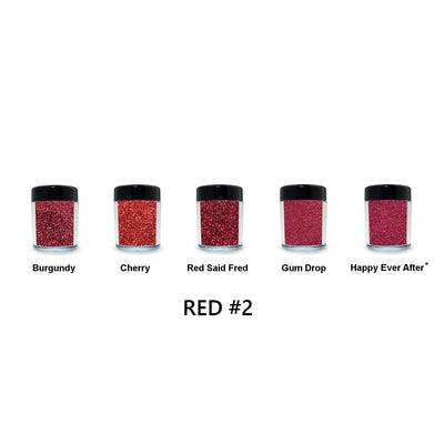 Red Loose Glitter Set #2