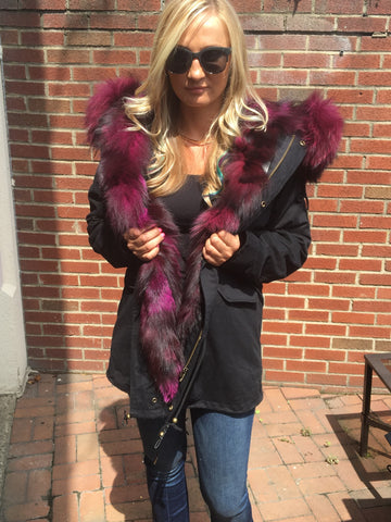 womens fur lined parka