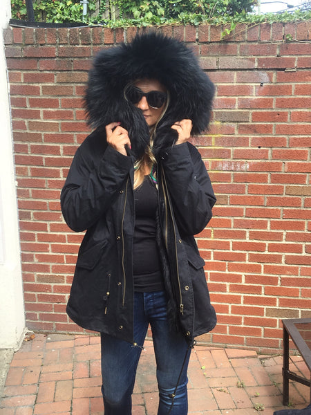fox fur parka fur lined parka