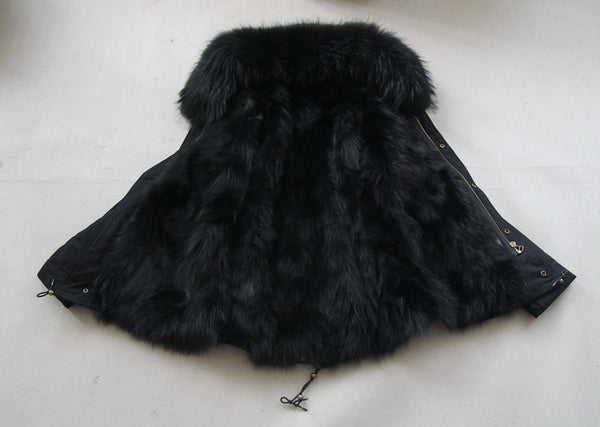 womens fox fur lined parka