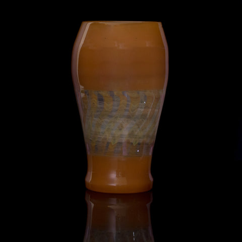 JD Maplesden Peach Pint Glass