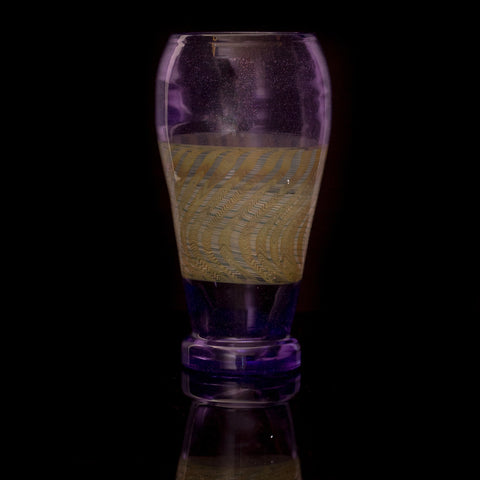 JD Maplesden Purple Pint Glass
