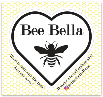 Bee Bella Logo Sticker