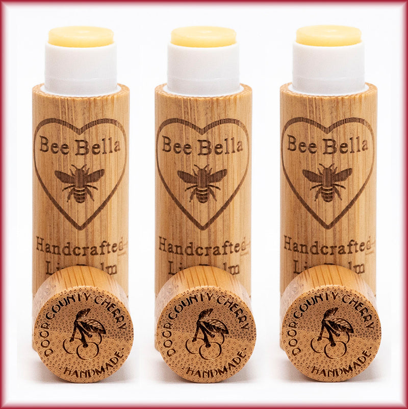 Three Pack of Cherry Beeswax Lip Balm, Cherry Fair Trade Lip Balm