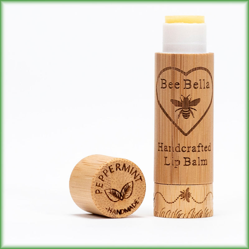 Peppermint beeswax lip balm