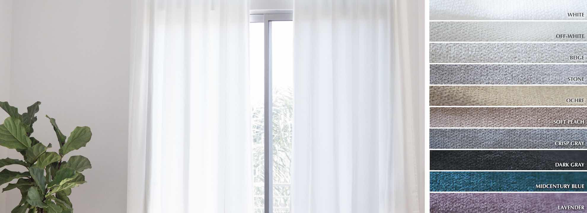 Soothe - Collection Curtains Chenille texture matte velvet Fabric