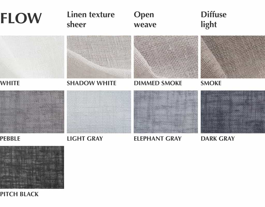 flow sheer fabric swatches for curtains