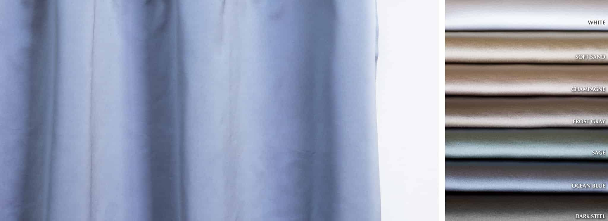 Luster - Collection Curtains Satin semi-sheer Fabric