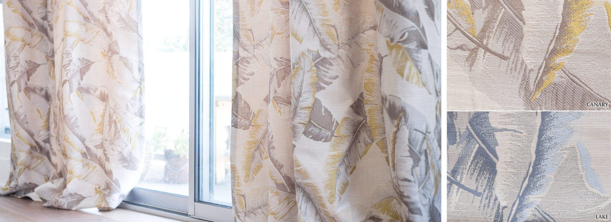Paradise - Collection Curtains Feather pattern semi-sheer Fabric