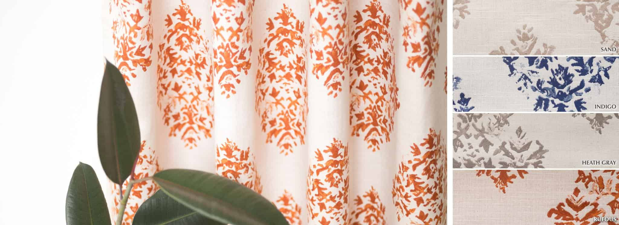 Hummingbird - Collection Curtains Patterned jacquard semi-sheer Fabric